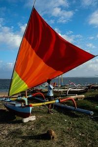 Pirogue, sud Bali
