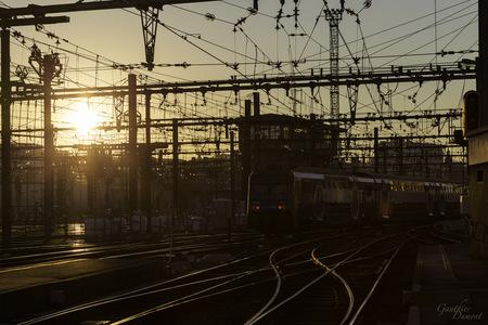 Levé de soleil à la Gare de Lyon