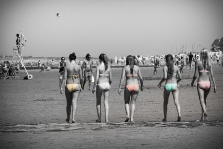 plage, maillot de bain, Belgique, Knokke