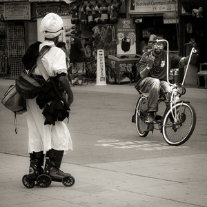 Venice, Los Angeles, photo de rue, vélo