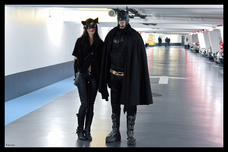Mr & Mrs Batman ... in a car park