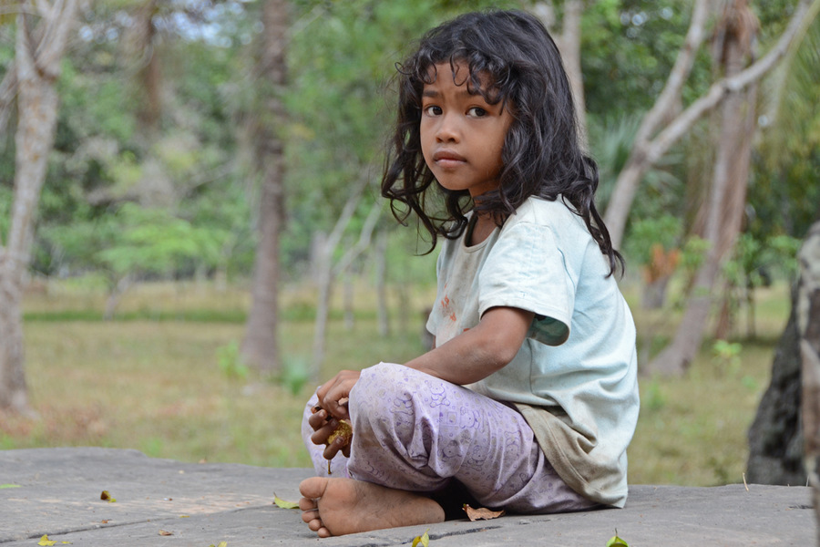 Cambodge Petite fille