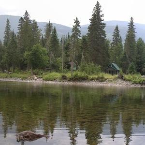 paysage, cabane