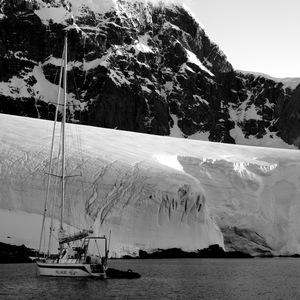 voilier, antarctique, Montagne, neige
