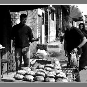 N&B, rue, Cairo, soleil, humanité...
