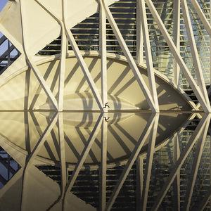valence, saut, reflet, Architecture, eau