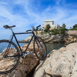 Fixie, vélo, Marseille, Corniche, mer
