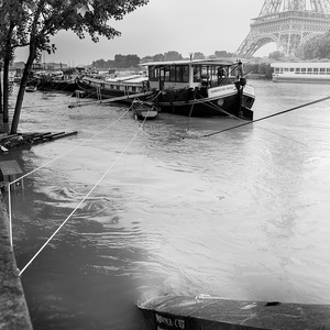 inondation, bords de Seine, Paris