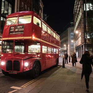 Londres, bus, nuit, City