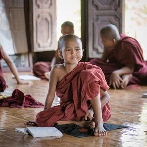 moine, monastère, Enfant, Birmanie