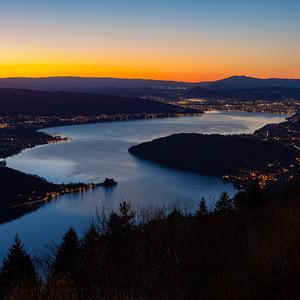 Lac d'Annecy, coucher de soleil, annecy