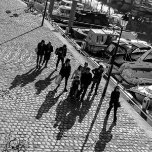 Paris, noir et blanc divers, jeu d'ombres