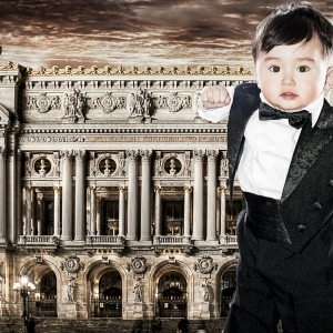 Paris, Opera, Enfant, portrait, costume, maestro