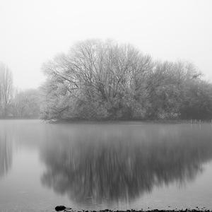 Lac, Brétigny, brume, Bassin, carouge