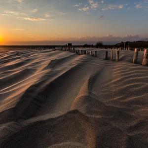 couché de soleil, plage