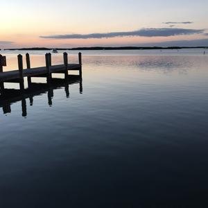 sunset, Ocean