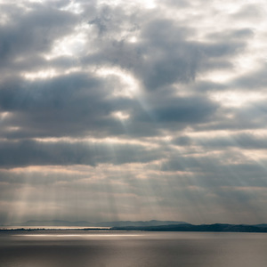 mer, Ciel mer nuages grain
