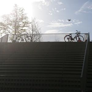 couple, Humain, vélos, urbanité