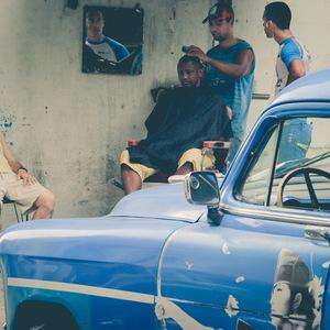 La Havane, photo de rue, Coiffeur