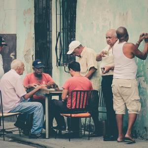 La Havane, photo de rue, dominos