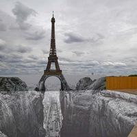 La tour Eiffel par JR
