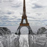 La toour Eiffel par JR
