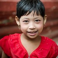 portrait, enfant., Birmanie