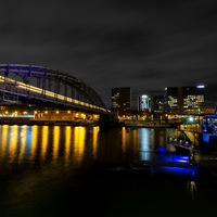 bords de Seine, Paris, seine, nuit, pont