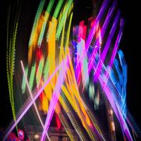 nuit, couleurs, foire, fête foraine