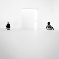 Noir et Blanc, couple, musée