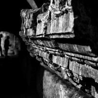 Arles, cryptoportiques, Provence, Noir et Blanc