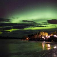 aurore boréale, Norvege, paysage polaire, LOFOTEN