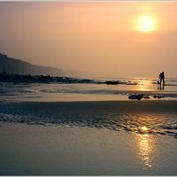couché de soleil, mer