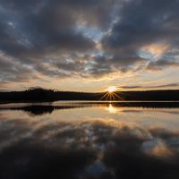 coucher de soleil, Morvan