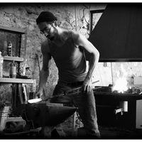 Gilles - Travail sur un acier damas